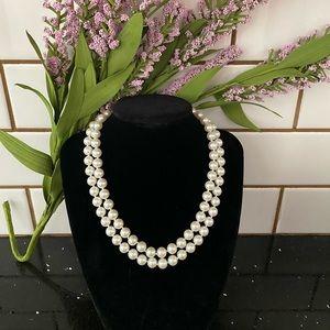 Vintage Double Pearl (faux ?) Necklace